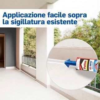 Pattex Bagno Sano Re-New Sigillante Universale con Beccuccio Autolisciante - Flacone da 280ml
