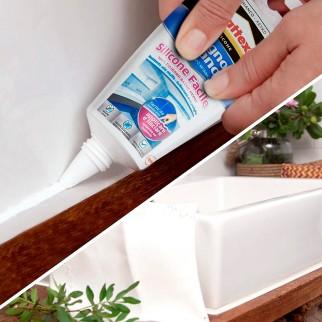 Pattex Bagno Sano Silicone Facile Resistente alle muffe - Flacone da 150ml