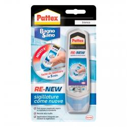 Pattex Bagno Sano Re-New Silicone Speciale Sigillante Bianco - Flacone da 100ml
