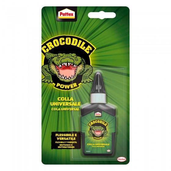 Pattex Crocodile Power Adesivo Universale Flessibile e Versatile - Flacone da 50g