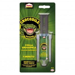 Pattex Crocodile Power Colla Epossidica Bicomponente Trasparente con Dosatore a Siringa - Flacone da 11g