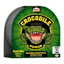 Pattex Crocodile Power Nastro Adesivo Grigio Massima Resistenza - Rotolo da 30 Metri