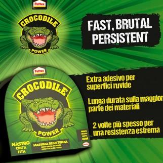 Pattex Crocodile Power Nastro Adesivo Nero Massima Resistenza - Rotolo da 30 Metri