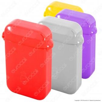 Bravo Rex Posacenere Tascabile in Plastica Colorata con Tappo Antiodore