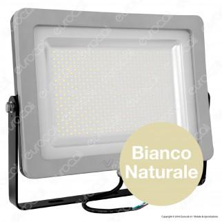 V-Tac VT-48302 Faretto LED SMD 300W Ultra Sottile da Esterno Colore Grigio e Nero - SKU 5731 / 5732