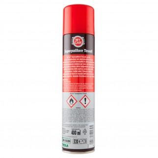 My Car Superpulitore per Tessuti Schiuma Spray Azione Antiodore - Flacone da 400ml