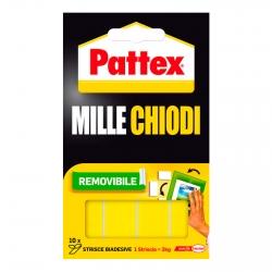 Pattex Mille Chiodi Removibile Strisce Biadesive - Confezione da 10 Pezzi