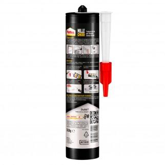 Pattex Mille Chiodi Trasparente Colla di Montaggio con Applicatore - Flacone da 310g