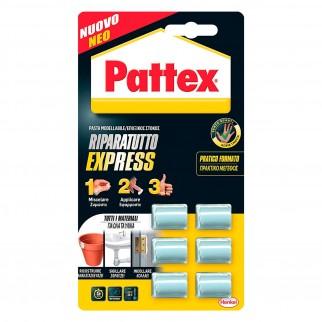 Pattex Riparatutto Express Pasta Modellabile - Confezione da 6 Adesivi Monodose