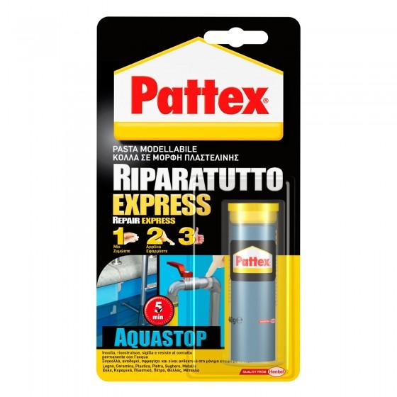 Pattex Riparatutto Express Aquastop Adesivo Epossidico in Pasta Modellabile Impermeabile - Flacone da 48g