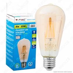 V-Tac VT-1968 Lampadina LED E27 8W Bulb ST64 Filamento - SKU 4421