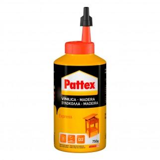 Pattex Colla Vinilica Express per Tutti i Tipi di Legno - Flacone da 750g