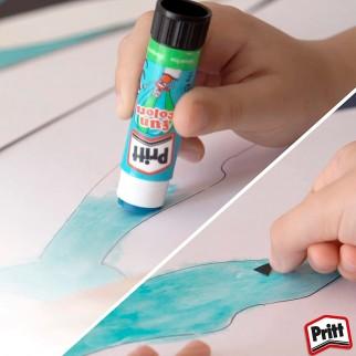 Pritt Stick Fun Colors Colla Colorata - 4 Stick da 10g