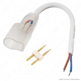 V-Tac Connettore 2 PIN per Strisce LED Neon Flex Con Cavi a Saldare - SKU 2526