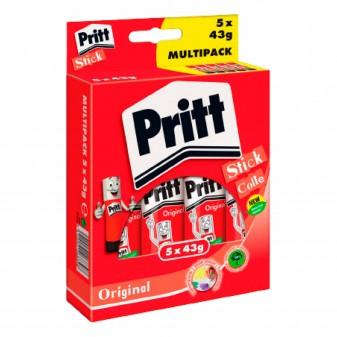 Pritt Original Stick Colla Trasparente - Confezione da 5 Flaconi da 43g