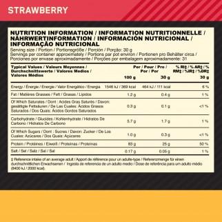 Optimum Nutrition Gold Standard 100% Isolate Proteine in Polvere con Aminoacidi Gusto Fragola - Barattolo da 930g