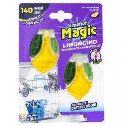 Mister Magic Limoncino Deodorante per Lavastoviglie - Confezione da 2 Applicazioni