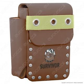 Survivor Porta Pacchetto in Eco Pelle con Porta Accendino
