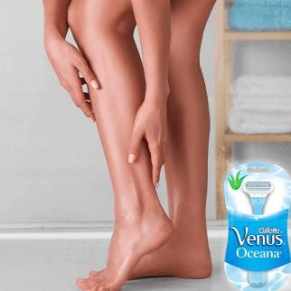 Gillette Venus Oceana Rasoio Donna 3 Lame - Confezione da 4 Pezzi