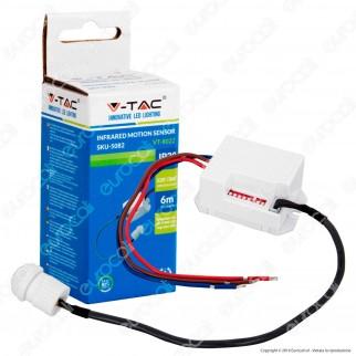 V-Tac VT-8022 Sensore di Movimento a Infrarossi per Lampadine - SKU 5082