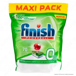 Finish Powerball 0% per Lavastoviglie - 70 Pastiglie
