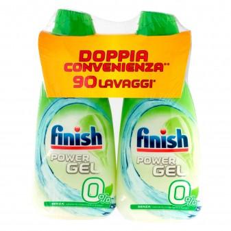 Finish PowerGel 0% per Lavastoviglie - 2 Flaconi da 900ml
