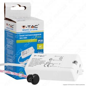 V-Tac VT-8026 Sensore di Movimento a Infrarossi Corto Raggio per Lampadine - SKU 5085