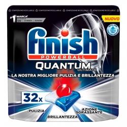 Finish Powerball Quantum Ultimate per Lavastoviglie - 32 Pastiglie