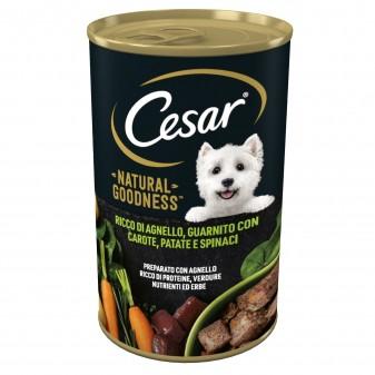 Cesar Natural Goodness Cibo per Cani con Agnello Carote Patate e Spinaci - Lattina da 400g