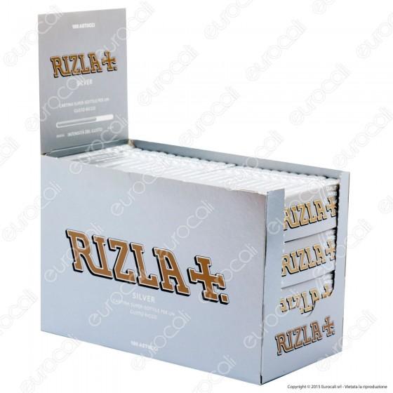 Cartine Rizla Silver Corte Argento - Scatola da 100 Libretti (New Look)