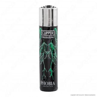 Clipper Large Traslucido Fantasia Phobia - Box da 48 Accendini