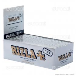 Cartine Rizla Silver 77 Corte Argento - Scatola da 50 Libretti