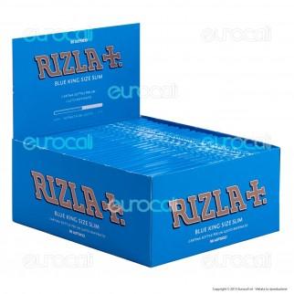 Cartine Rizla Blu King Size Slim Lunghe - Scatola da 50 Libretti