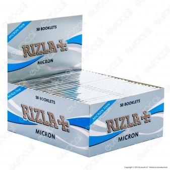 Cartine Rizla Micron King Size Slim Lunghe - Scatola da 50 Libretti