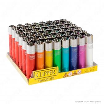 Clipper Large Crystal Rainbow - Box da 48 Accendini
