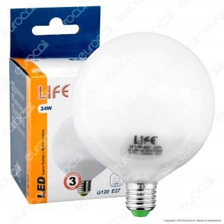 Life Serie GL Lampadina LED E27 24W Globo G120