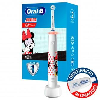 Oral-B Pro 3000 Spazzolino Elettrico Minnie Ricaricabile per Bambini con Dentifricio