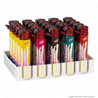 Accendini a Pietrina Prof Fantasia Maxi Red Dripping Paint - Box da 50