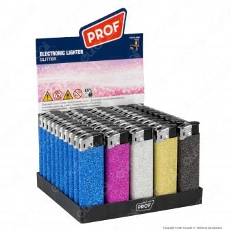 Accendini Electronic Maxi Prof Fantasia Glitter - Box da 50