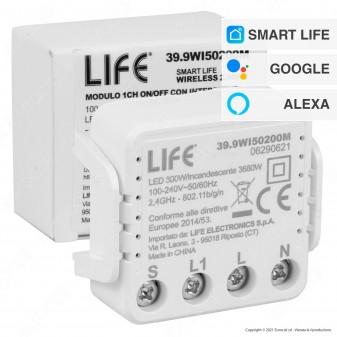 Life Modulo Ricevitore Interruttore ON/OFF Smart Wireless Wi-Fi con App - mod. 39.9WI50200M