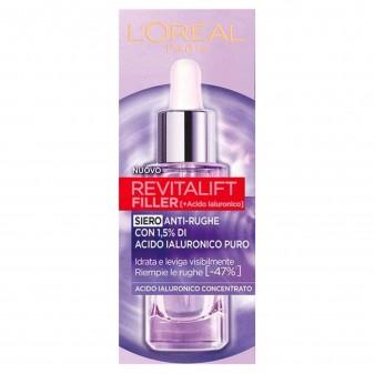 L'Oréal Paris Revitalift Filler Siero Viso Azione Rimpolpante e Anti-Rughe - Flacone da 50 ml