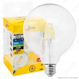 Century Incanto Lampadina LED E27 8W Globo G125 Filamento