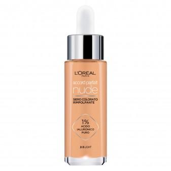 L'Oréal Paris Accord Parfait Nude Siero Rimpolpante Colorato Colore 2-3 Light