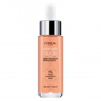 L'Oréal Paris Accord Parfait Nude Siero Rimpolpante Colorato Colore 3-4 Light Medium