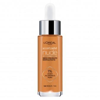 L'Oréal Paris Accord Parfait Nude Siero Rimpolpante Colorato Colore 5-6 Medium - Tan