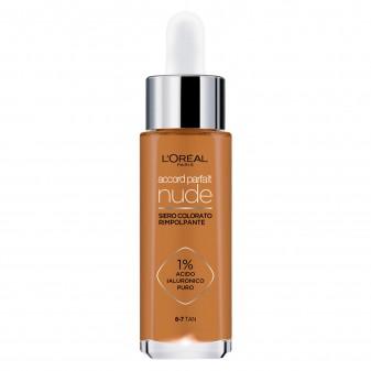 L'Oréal Paris Accord Parfait Nude Siero Rimpolpante Colorato Colore 6-7 Tan