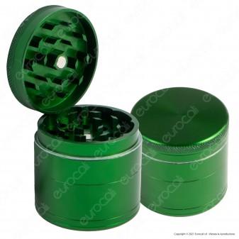 Grinder Tritatabacco Mini in Alluminio 4 Parti Verde