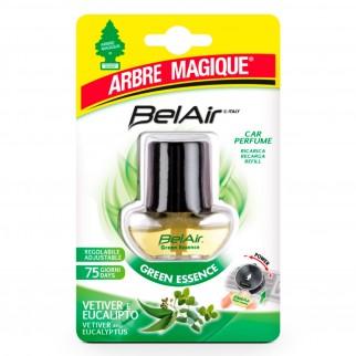 Arbre Magique BelAir Green Essence Ricarica per Profumatore per Auto Fragranza Vetiver ed Eucalipto