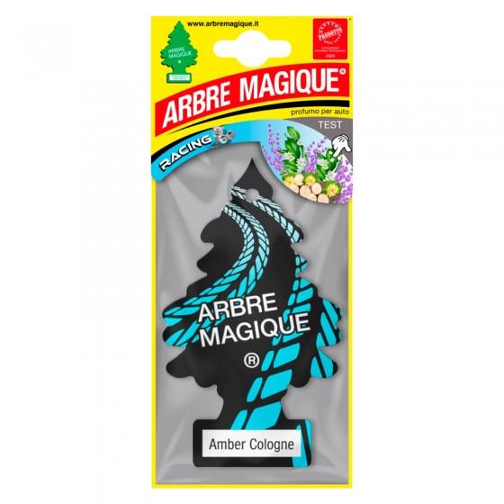 Arbre Magique Racing Profumatore Solido per Auto Fragranza Amber Cologne Lunga Durata