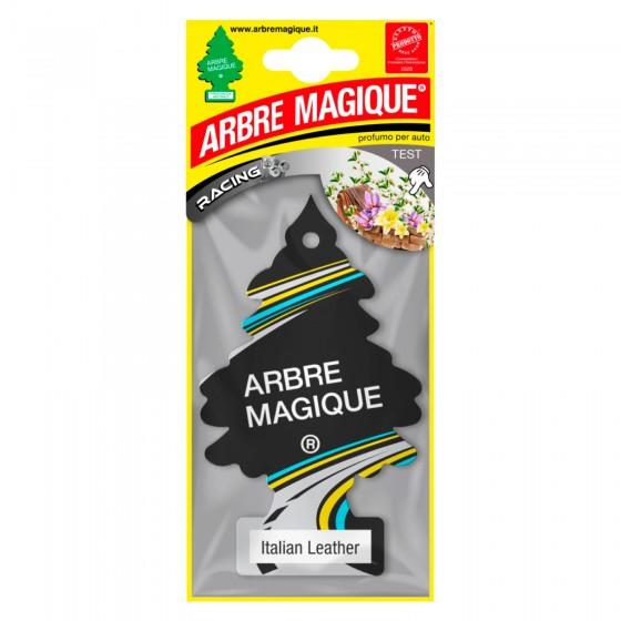 Arbre Magique Racing Profumatore Solido per Auto Fragranza Italian Leather Lunga Durata